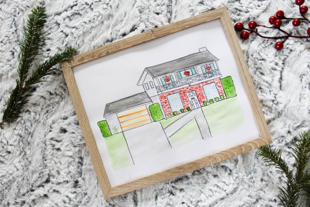 Watercolor Painting of house