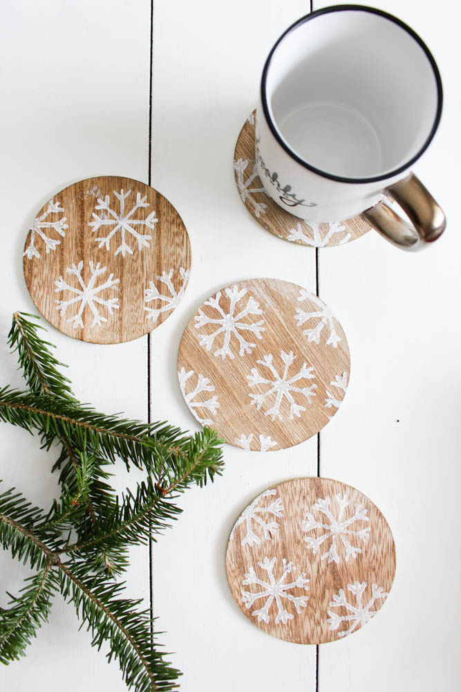 DIY Snowflake Coasters from Target's One Spot