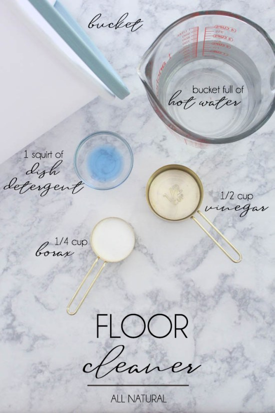 Clean Your Floor with Borax - Within the Grove