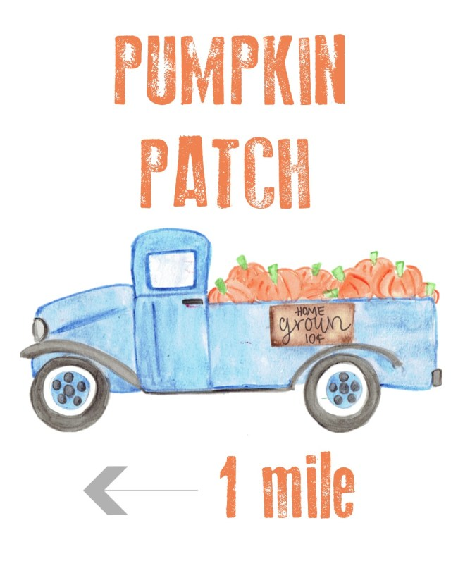 Free Pumpkin Patch Fall Printable