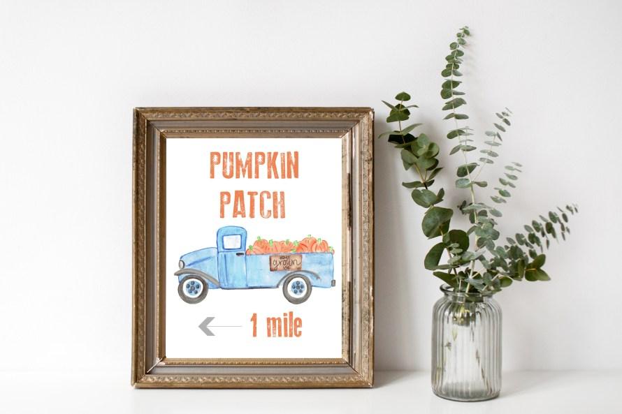 Free Pumpkin Patch Fall Printable