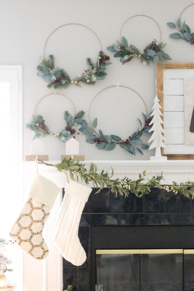 Decorating tour mantle for Christmas
