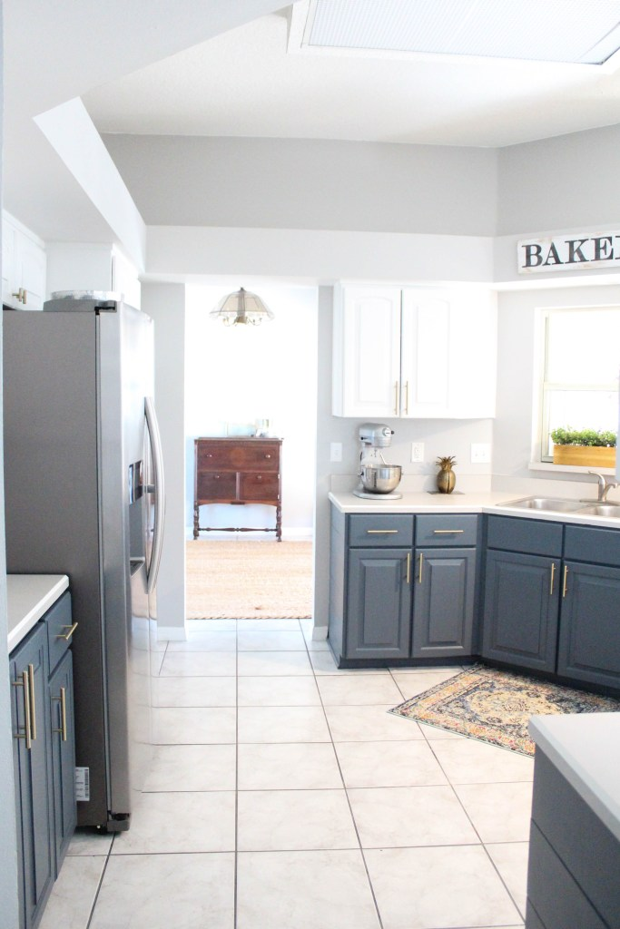 Before and after of our kitchen makeover