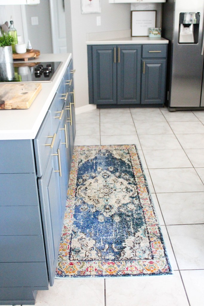 Navy and White Kitchen Reveal
