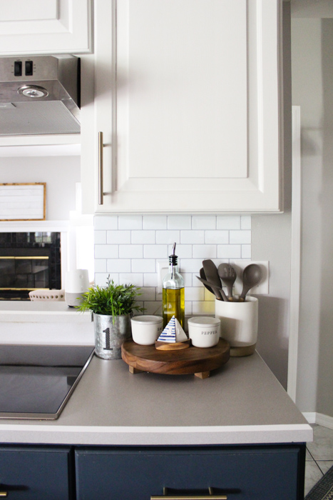 Using Self Adhesive Wall Tile For Our Kitchen Backsplash
