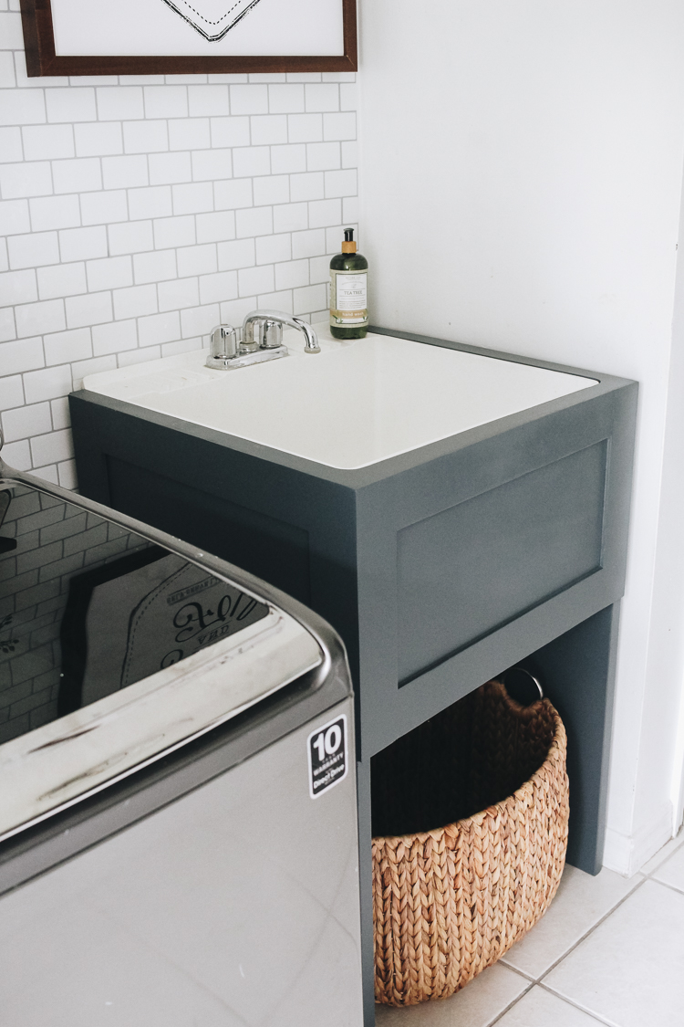 How to Hide Your Utility Sink: Faux Cabinet Tutorial ...
