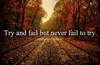 Try and fail but never fail to try