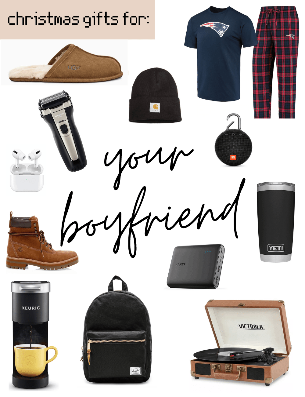 33 Christmas Gifts For Boyfriend That He Ll Love With Liana