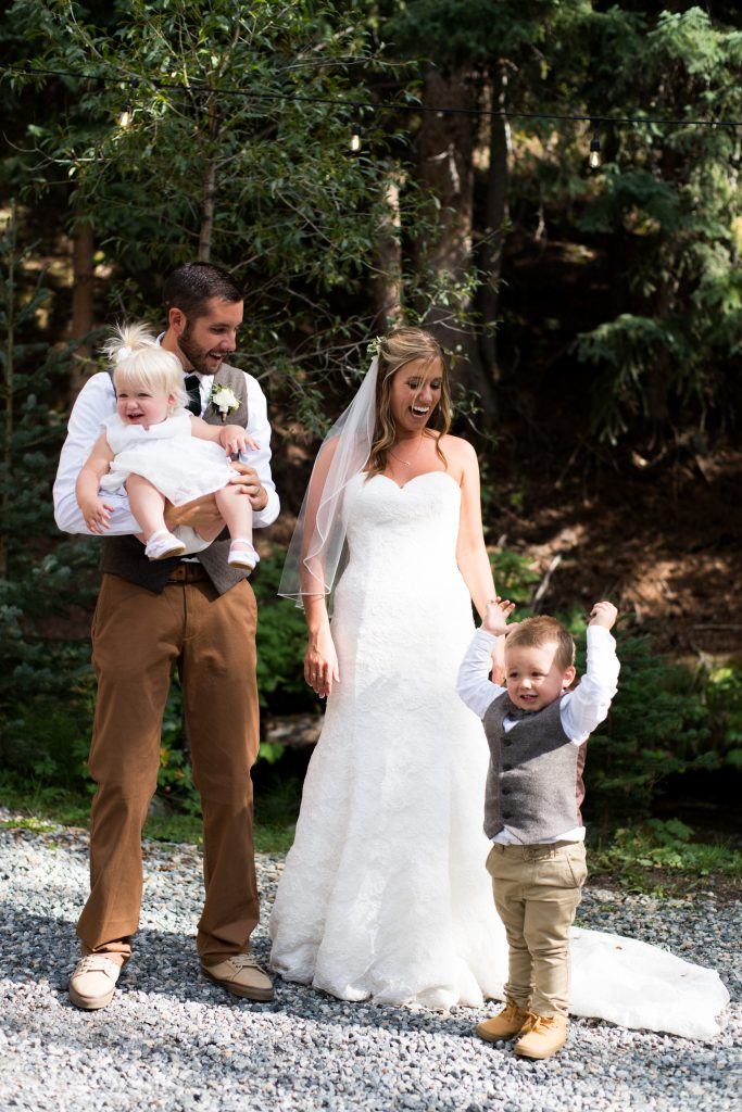 Rocky Mountain Wedding Ring Bearer and Flower Girl