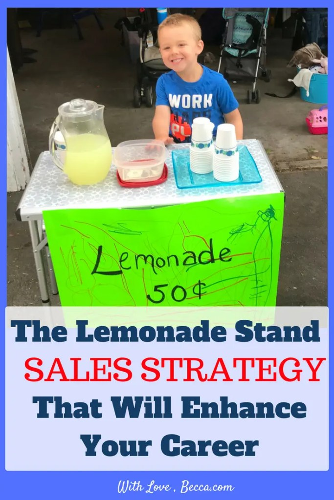 The lemonade stand sales strategy that will enhance your career. Learn how we can use what comes naturally to kids to improve our professional and personal relationships. #careeradvice #career #professionaldevelopment #salesstrategy
