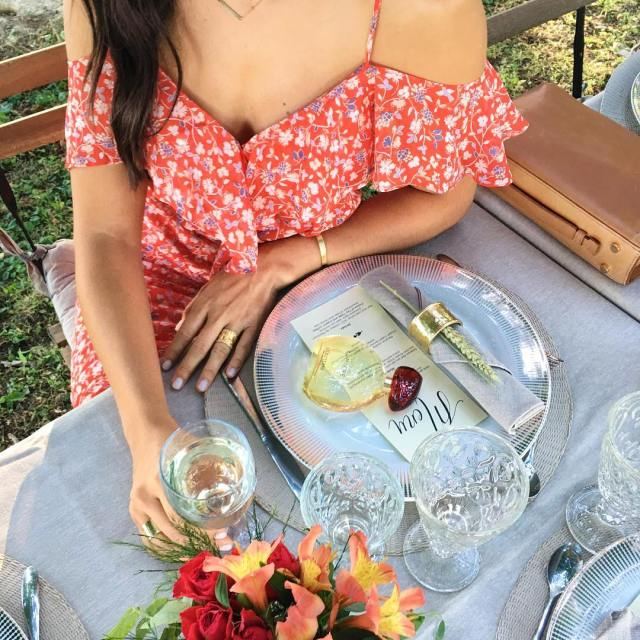 Dinner details with loccitaneusa and their amazing perfume Terre dehellip