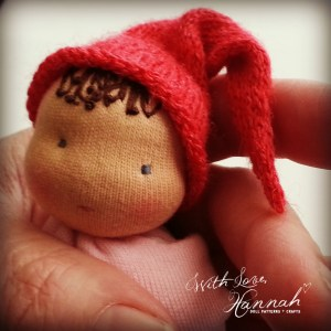 Bitty Bit Cuddle Baby and Knit Hat - With Love Hannah