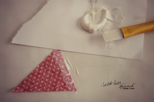 Make a mini, doll-sized, bunting tutorial