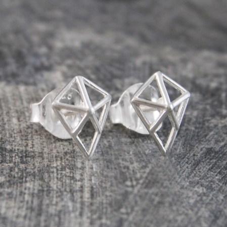 Diamond Geometric Studs, £12.75