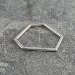 Sterling Silver Geometric Stacking Ring £19.75