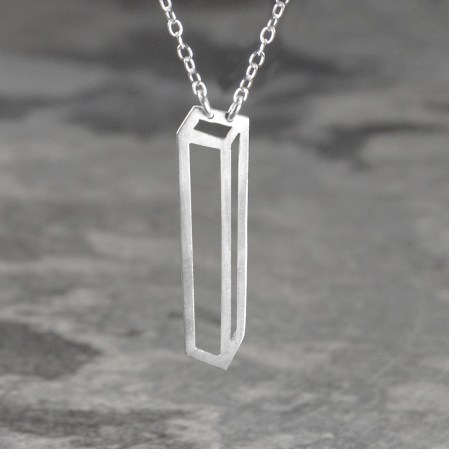 Rectangular Box Pendant in Sterling Silver £39.75