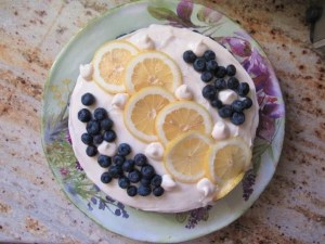 Read more about the article Lemon Blueberry Torte—Gluten Free