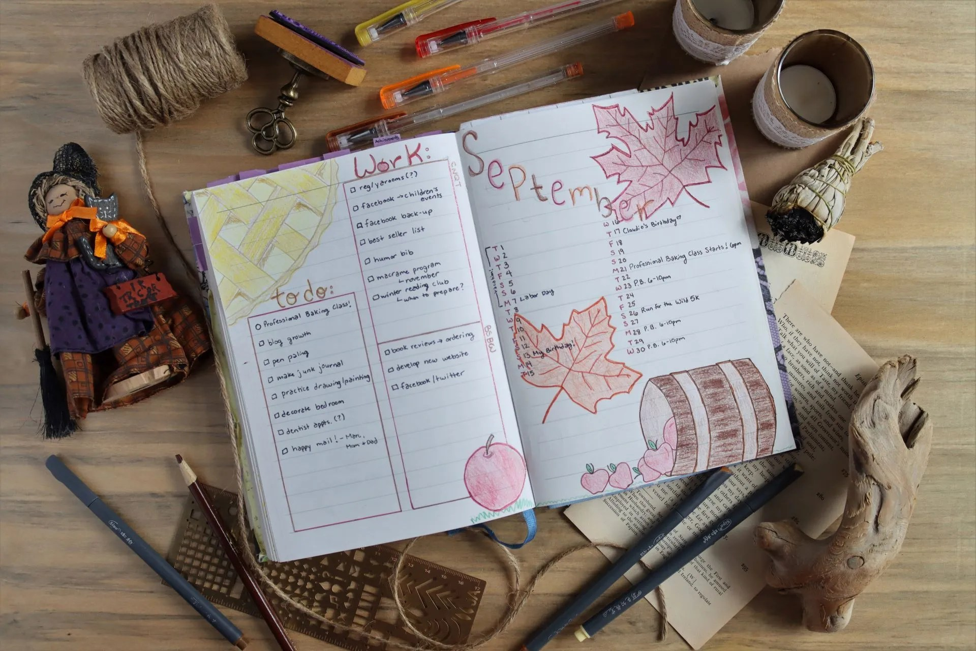 Read more about the article September Bullet Journal Theme: Autumn Apples and Leaves