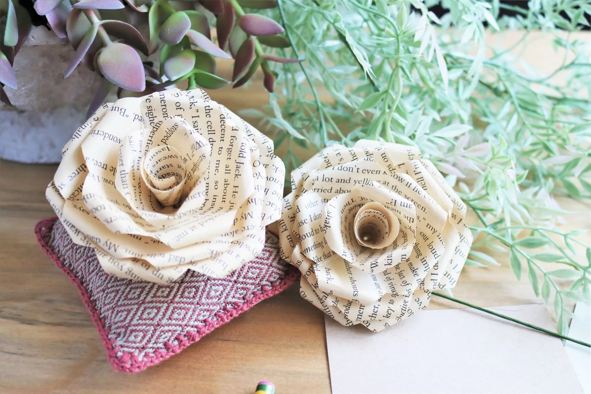 Read more about the article How to Make Book Page Paper Roses