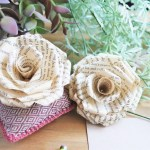 How to Make Book Page Paper Roses