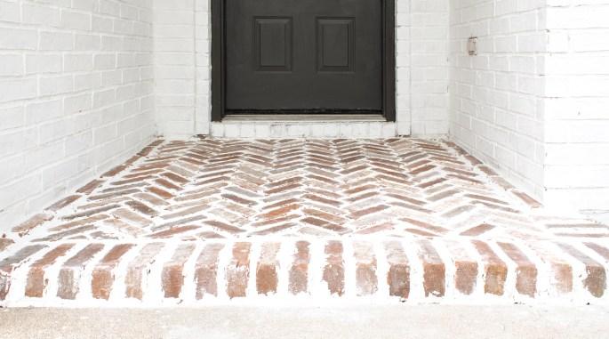 brick patio with love mercedes