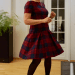 McCall's M7241 wool plaid dress.