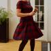 McCall's M7241 wool plaid dress.