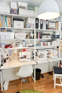 Sewing space organization.