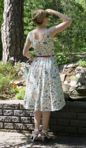 Bette dress, back view.