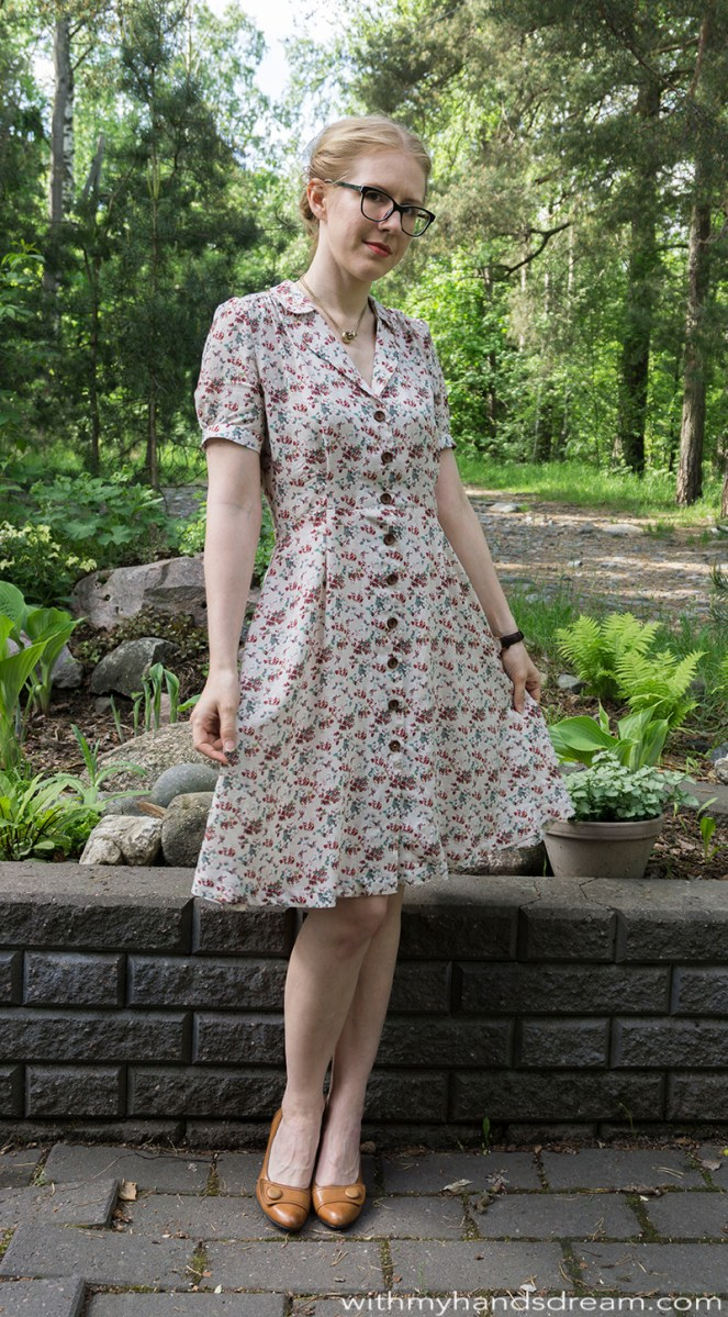 Vintage shirt dress by Sew Over It