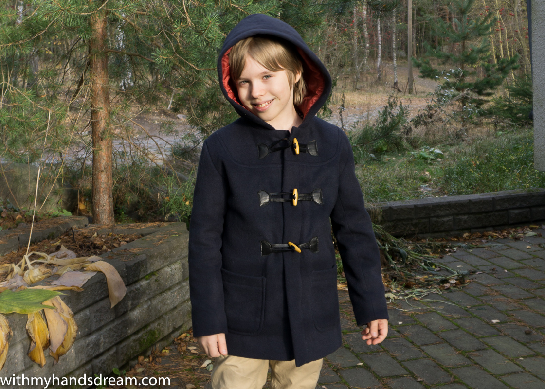 Ottobre design 06-2012 40. Klassikko duffle coat for boys.