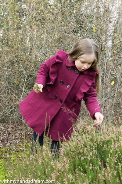 Suuri Käsityö 03-2013 12. ruffled wool coat.