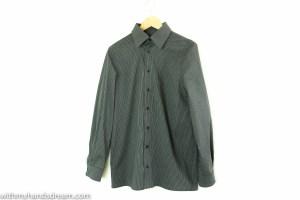 The finished shirt: Bootstrapfashion.com Vado Designs Custom fit Men's Classic Fit Shirt.