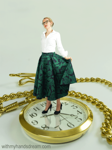 A result of some Photoshopping: A tiny me on a pocket watch.