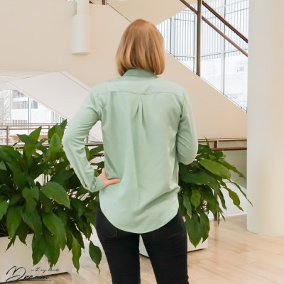 Diana blouse from the back.