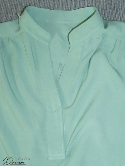 Placket from the inside.