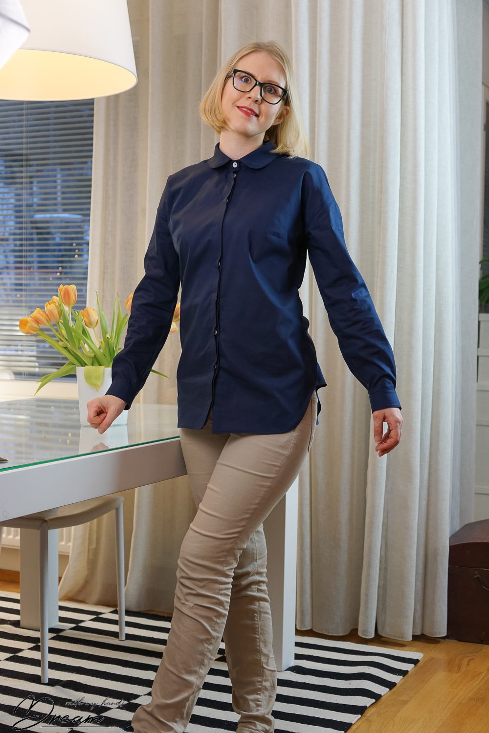 My blue Mélilot blouse by Deer & Doe.