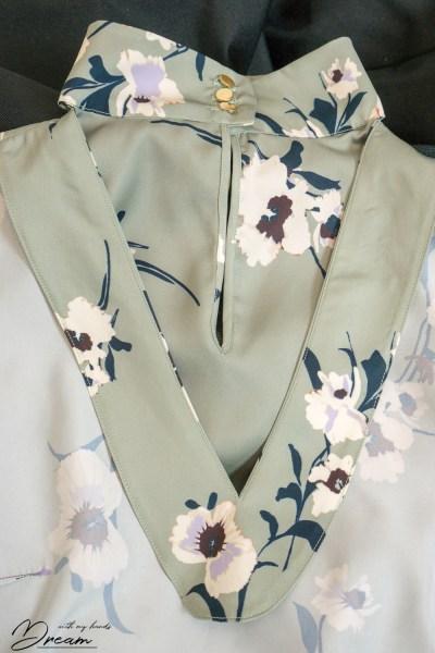 Orageuse: Prague blouse, neckline facing.