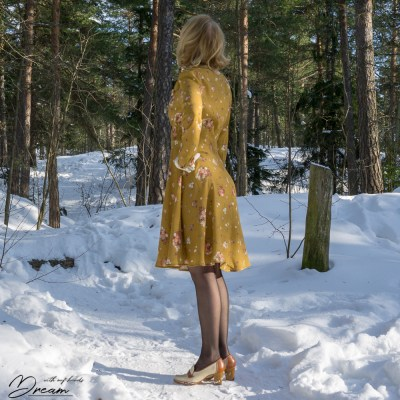 The Amelia Tea Dress from the side.