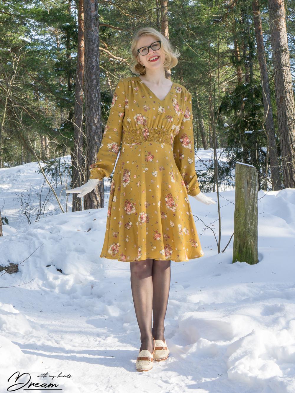 Amelia Tea Dress by Simple Sew patterns.