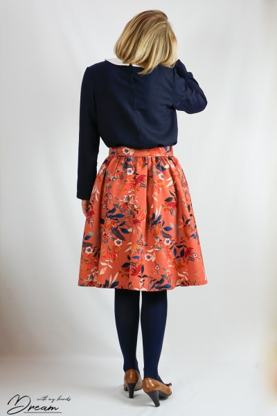 Sew Over It Rosie skirt from the back.