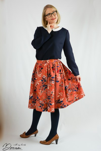 The Rosie skirt from the front.