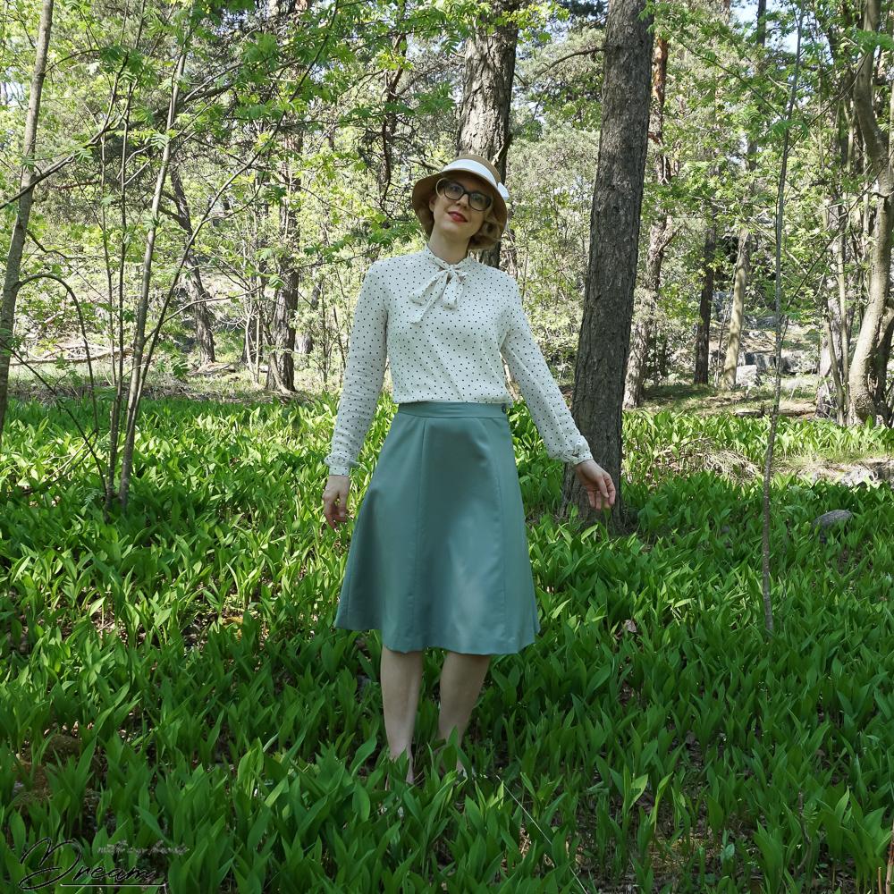 1940s skirt, Simplicity 3688