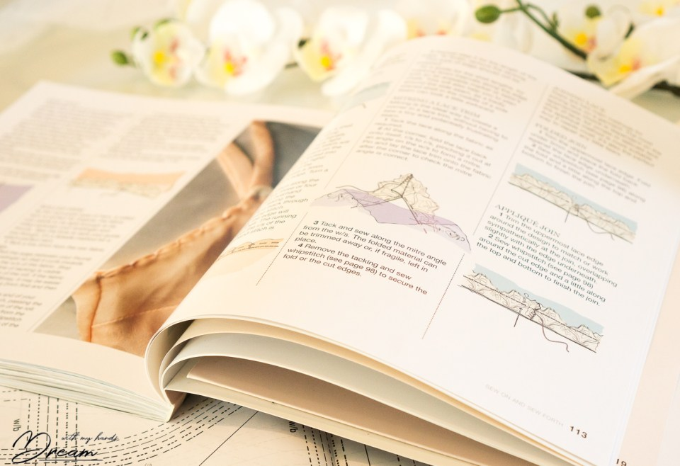 The Secrets of Sewing Lingerie, illustrated guide pages.