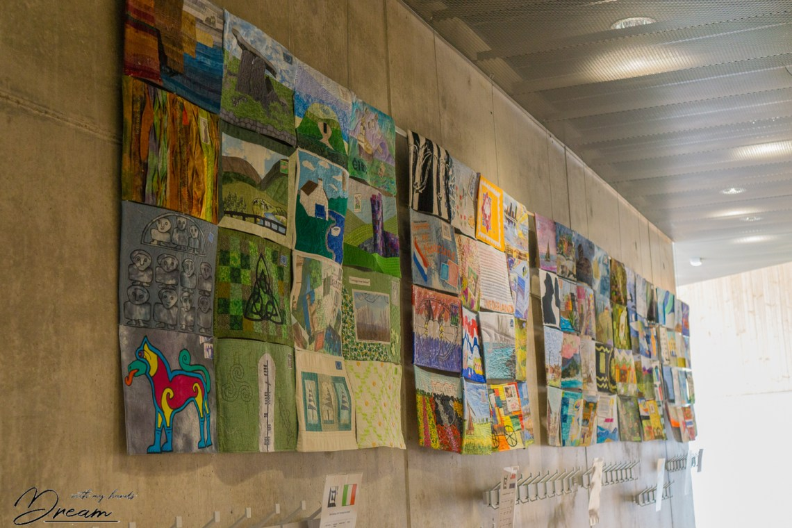 Fabric art at Ommel 2018.