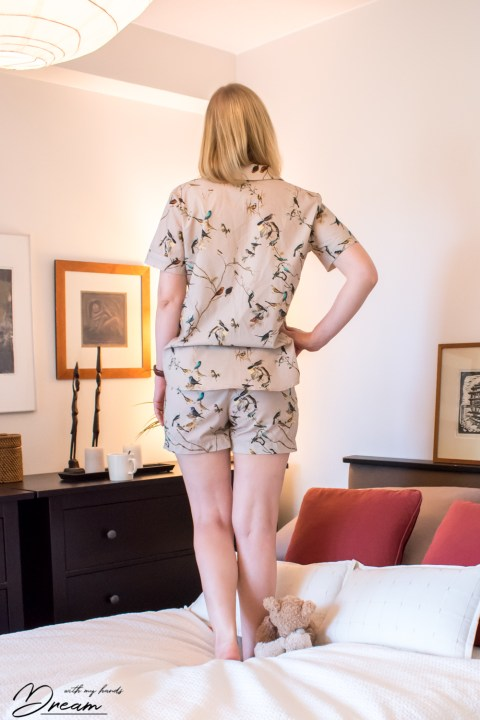 My summer Carolyn pajamas from the back.