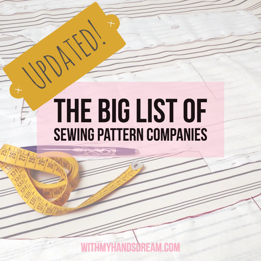 The updated list of sewing patterns.
