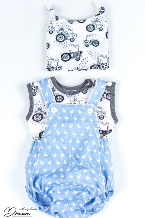 The set of baby clothes made with Ottobre design patterns.