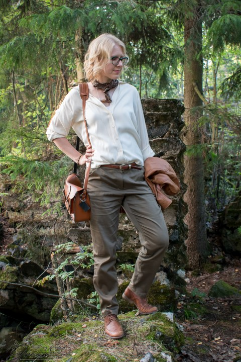 Alpi trousers and a refashioned blouse.