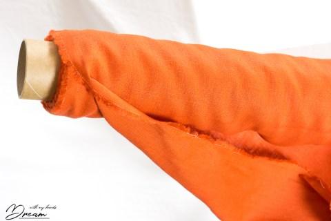 Autumn fabrics: orange ramie
